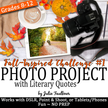 Yearbook Fall Project, Literary Quotes, Digital Art Challe