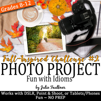 Yearbook Fall Project, Autumn Idioms, Digital Art Task, Ph