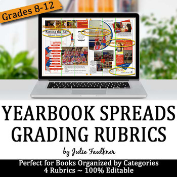 Yearbook Spreads & Pages Rubrics, Checklists for Grading, Evaluation, & Feedback