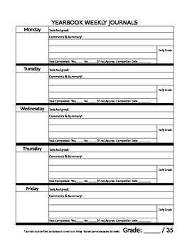 Yearbook (Weekly Staff Journals)