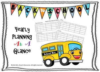 Yearly Planning at a Glance