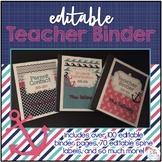Editable Teacher Binder { Pink & Aqua Nautical } Ultimate