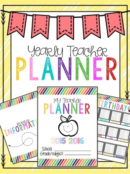 Yearly Teacher Planner