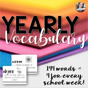 Yearly Vocabulary for High School