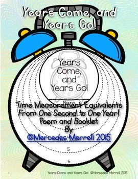 Years Come, and Years Go! Time Measurement Equivalents- O