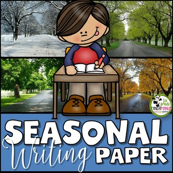 Year's Worth of Seasonal Writing on Lined Paper {Primary Grades}
