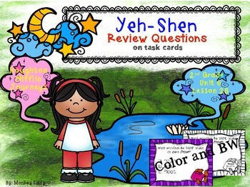 Yeh-Shen Review Task Cards for Houghton Mifflin Journeys