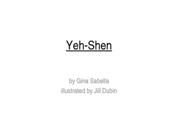 Yeh-Shen Vocabulary PowerPoint
