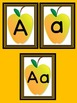 Yellow Apple Full Page Alphabet Letter Posters Uppercase a