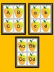 Yellow Apple Alphabet Letter Flashcards and Posters Bundle
