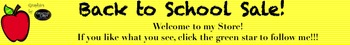 Yellow Back To School Sale Banner