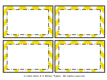 Yellow Chevron Labels by Kinder Tykes