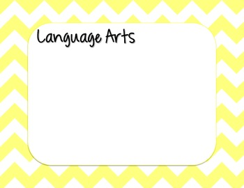 Yellow Chevron Strips Daily Learning Agenda