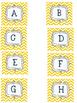 Yellow Chevron Word Wall Package {Chevron Alphabet; includ