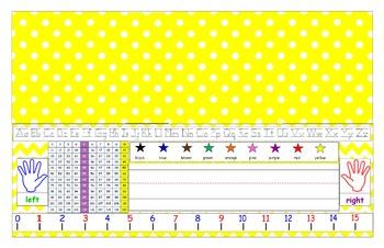 Yellow Desk Tag