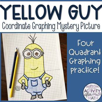 Yellow Guy Coordinate Graphing Mystery Picture!
