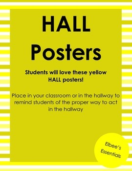 Yellow HALL Posters