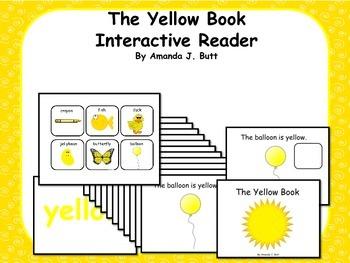 Yellow Interactive Color Sight Word Reader; Kindergarten;
