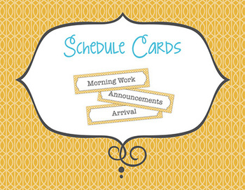 Yellow Lattice Schedule Cards