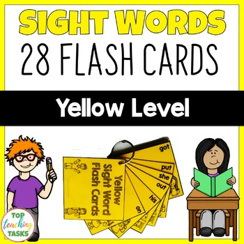 Yellow Level High Frequency Sight Word Flash Cards for Yea