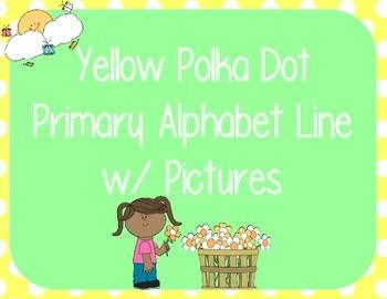 Yellow Polka Dot Alphabet Line