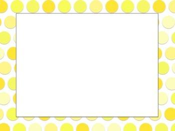Yellow Polka Dot Task Card Templates