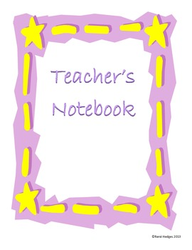 Yellow Stars and Stiches Notebook