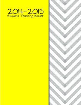 Yellow Student Teaching  Dividers *Editable*