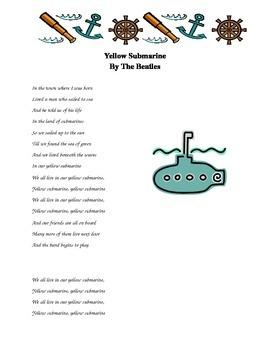 Yellow Submarine - Cloze Activity