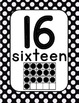 Number Cards 0-20 Yellow and Black Polka Dot (Bee)