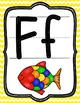 Yellow chevron alphabet cards