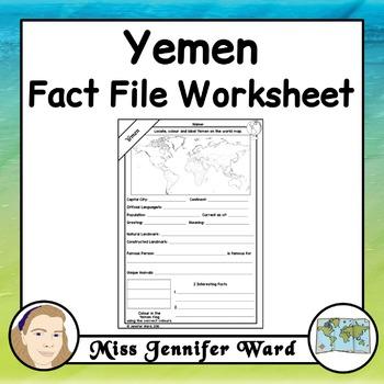 Yemen Fact File Worksheet
