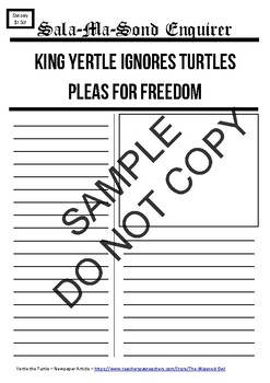 Yertle the Turtle - News - 8 Writing Tasks and Editable Di