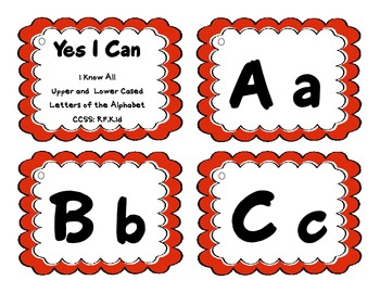 'Yes I Can' Statements Alphabet {Common Core Aligned}