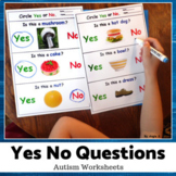 Yes/No Questions - Autism and Special Ed Worksheets