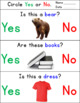 Yes/No Questions - Autism and Special Education Worksheets