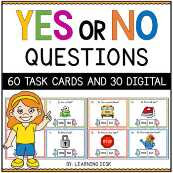 Yes and No Question Cards (Closed Questions)