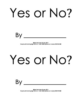 Yes or No? book, apples, colors, hfw yes, no, are