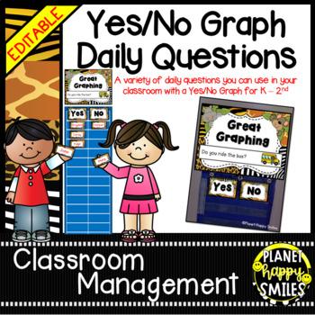 Yes/No Graph Questions in a Jungle/Safari Theme