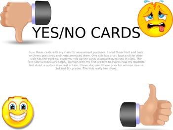 Yes/No, True/False Cards