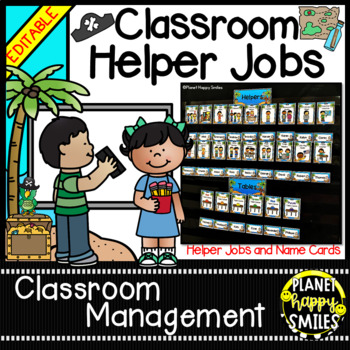 "Classroom Helper Jobs (EDITABLE) ~ ""Yo, Ho, Ho"" Pirate Theme"
