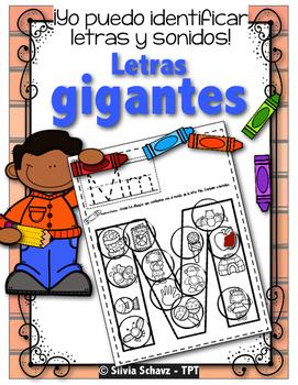 Yo puedo identificar las letras y sus sonidos - alfabeto gigante