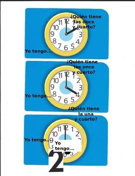 Yo tengo... ¿Quién tiene...? - Telling Time in Spanish