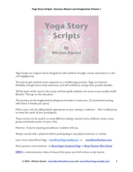Yoga Story Scripts:  Seasons, Nature, and Imagination, Volume 1,