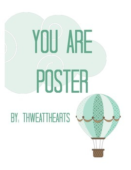 You Are Classroom Poster Freebie