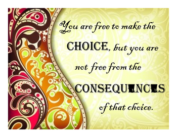 You Are Free to Make the Choice Poster
