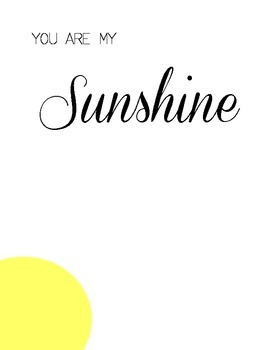 You Are My Sunshine Handprint Art Printable