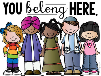 You Belong Here - Classroom Community Posters