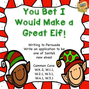 Christmas - You Bet I Would Make a Good Elf!  Writing to P