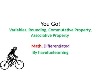 You Go - Math, Differentiated  - Simplified Language, Comp